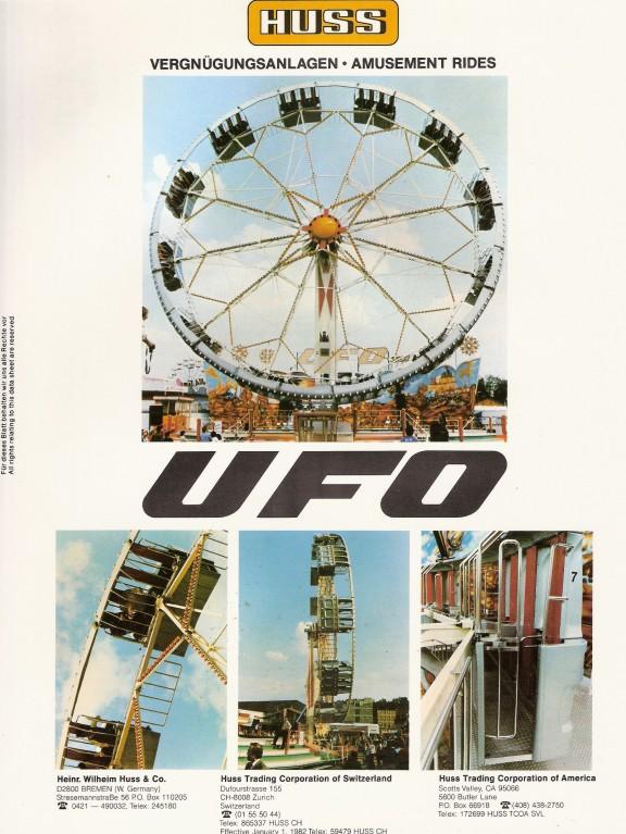 Huss ufo spec sheet