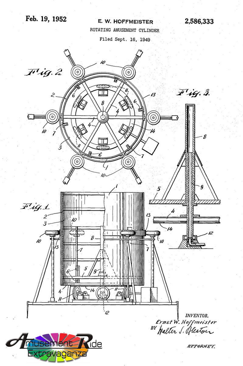 hoffmeister u2019s rotor patent  u2013 amusement ride extravaganza